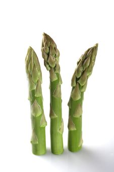 Free Three Asparagus Spears Standing Royalty Free Stock Photography - 5830447