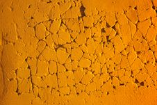 Free Orange Eroded Plaster Stock Photography - 5830462