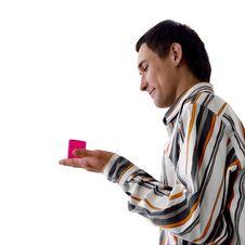 Free Man And Pink Box Stock Photo - 5830500