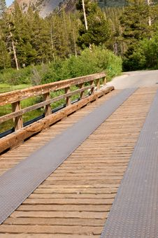 Rustic Wooden Bridge - Perspective Royalty Free Stock Images