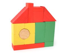 Free House From Toy Wooden Cubes Royalty Free Stock Photo - 5831145