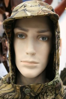 Head Of Mannequin In Masking, Disguise Hood Stock Photos