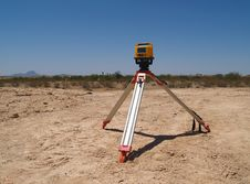 Free Man Surveying At Excavation Site - Horizontal Stock Photo - 5831430