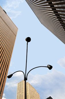 Street Lamp In  Manhattan Stock Image