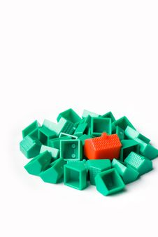 Free Plastic Model Houses Stock Photo - 5831860