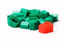Free Plastic Model Houses Royalty Free Stock Image - 5831896
