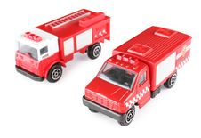Free Two Toy Fire Machines Royalty Free Stock Photos - 5832378