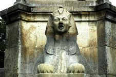 France, Paris: Sphynx Sculpture At Chatelet Stock Images