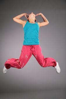 Free Woman In Sportswear In Jump Stock Image - 5832771