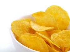 Free Potato Chips Closeup Royalty Free Stock Photography - 5833127