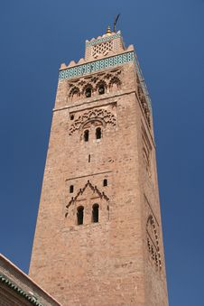 Famous Minaret In Marrakesh Royalty Free Stock Images