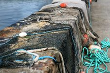 Free Drying Fishing Nets Stock Photography - 5834652