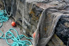 Free Drying Fishing Nets Stock Images - 5834654