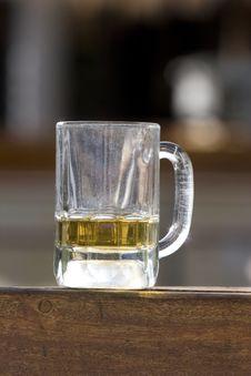 Empty Beer Mug Stock Photo