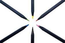 Free Black Colored Pencils Royalty Free Stock Image - 5835766