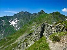 Ridge In Romania Carpathian Stock Photos
