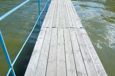 Wooden Footbridge Royalty Free Stock Image