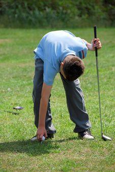 Free Boy Golfer Stock Photography - 5836862