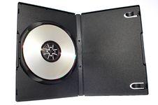 Free Blank Dvd In Black Plastic Case Stock Image - 5837241
