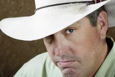 Free Man Under A Cowboy Hat Stock Photo - 5837460