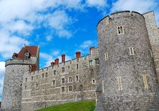 Walls And Tower Of Windsor Castle Stock Photos