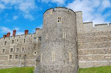 Walls And Tower Of Windsor Castle Royalty Free Stock Photography