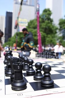 The Game Of Chess Royalty Free Stock Photography