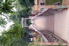 Free Wooden Bridge Over River Royalty Free Stock Image - 5838926