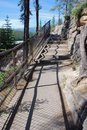Free Stairs To The Downstream Of Athabasca Falls Royalty Free Stock Photos - 5841778