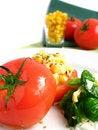 Free Tomato Stuffed With Corn Royalty Free Stock Photos - 5842118
