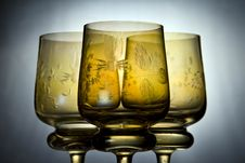 Free Three Beautiful Wine Glasses Royalty Free Stock Image - 5840316