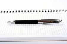 Free Notepad With Pen Isolated Stock Image - 5840691