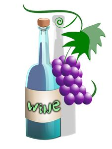 Free Wine Cartoon Bottle Stock Images - 5840784