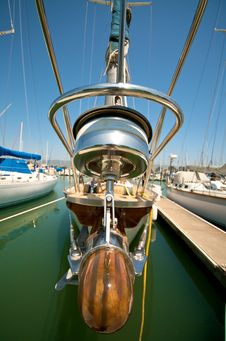 Berkeley Marina Prow Close Up Stock Image