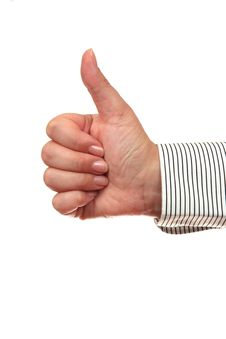 Free Thumb Up Gesture OK Royalty Free Stock Photography - 5840827
