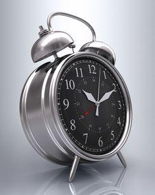 Free Old Clock (Black Display) Stock Image - 5841151