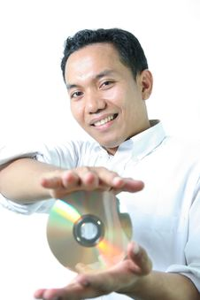 Free Man With Disc Stock Photography - 5841592