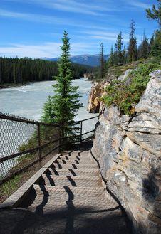 Free Downstream Of Athabasca Fall Royalty Free Stock Photos - 5841808