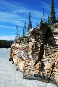 Free Downstream Of Athabasca Fall Stock Images - 5841834