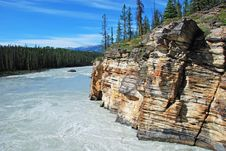 Free Downstream Of Athabasca Fall Royalty Free Stock Images - 5841849