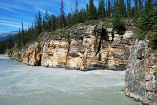 Free Downstream Of Athabasca Fall Stock Photography - 5841852