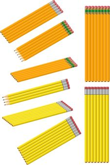 Free Isolated Vector Pencil Collection Stock Photography - 5841922