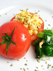 Free Tomato Stuffed With Corn Royalty Free Stock Photo - 5842045