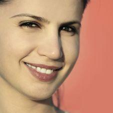 Close Up Of Beautiful Woman Royalty Free Stock Image