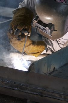 Free Welding Worker Royalty Free Stock Photography - 5842237