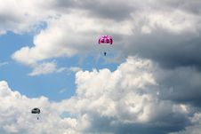Free Two Parachutes In The Sky Stock Photo - 5842900