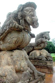 Konark Temple Of Orissa-India. Royalty Free Stock Photo