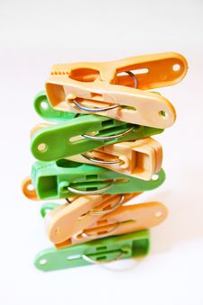 Free Clothes Pegs Stock Image - 5843231