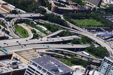 Free Daytime Aerial Expressway View Of Chicago Stock Image - 5843891