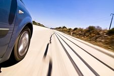 High Speed At Highway Royalty Free Stock Image